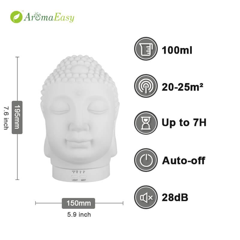 mystic esi ísì buddha mmanụ diffuser