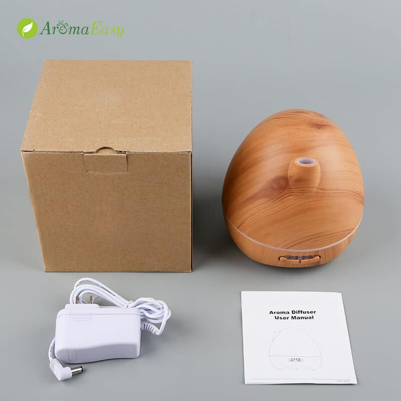 egg shape wooden oil diffuser