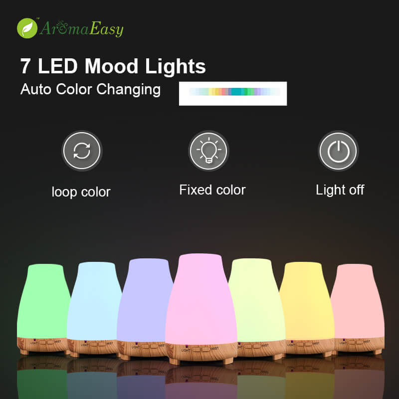 portable LED usb oil diffuser